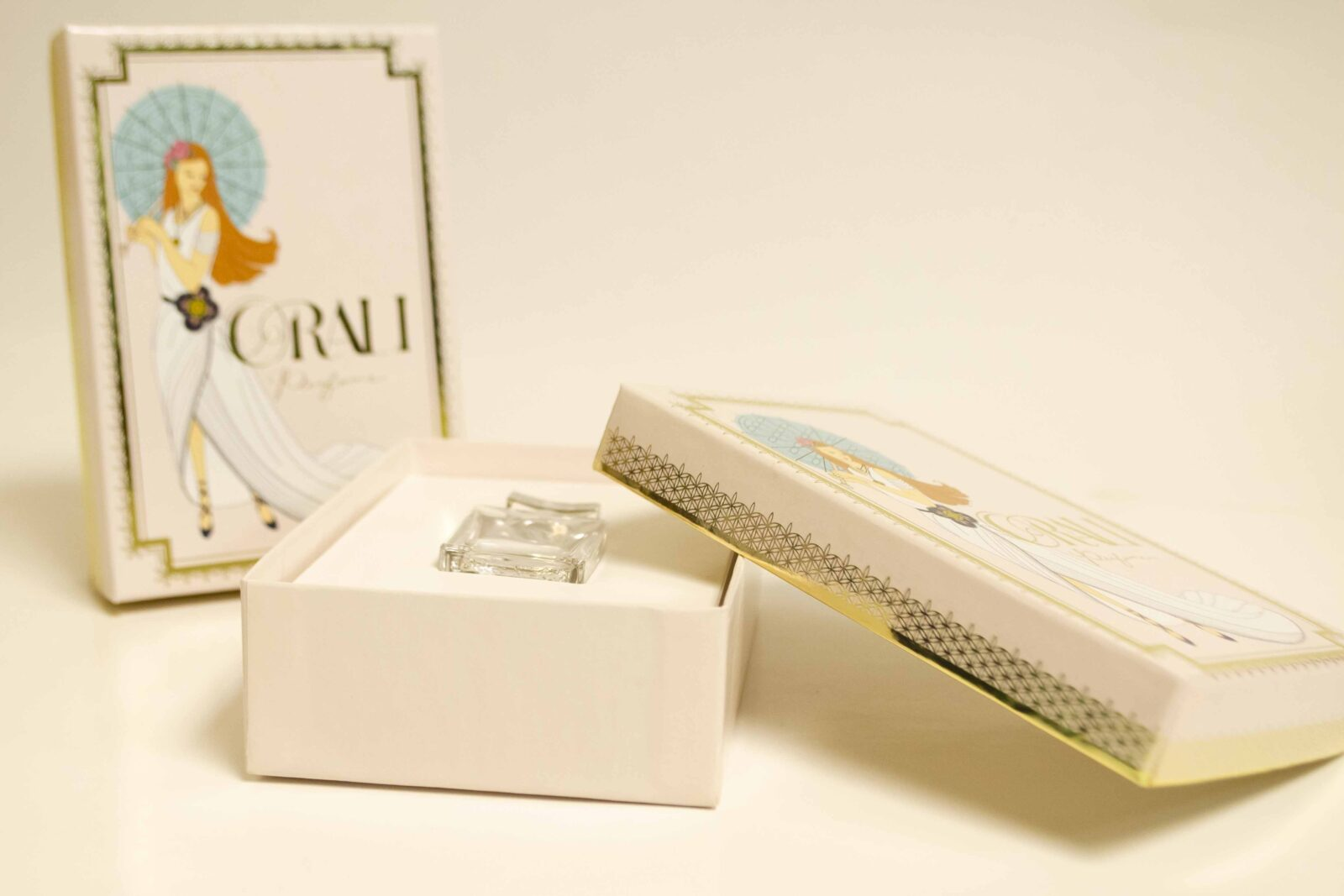 Gold Foil Perfume Box