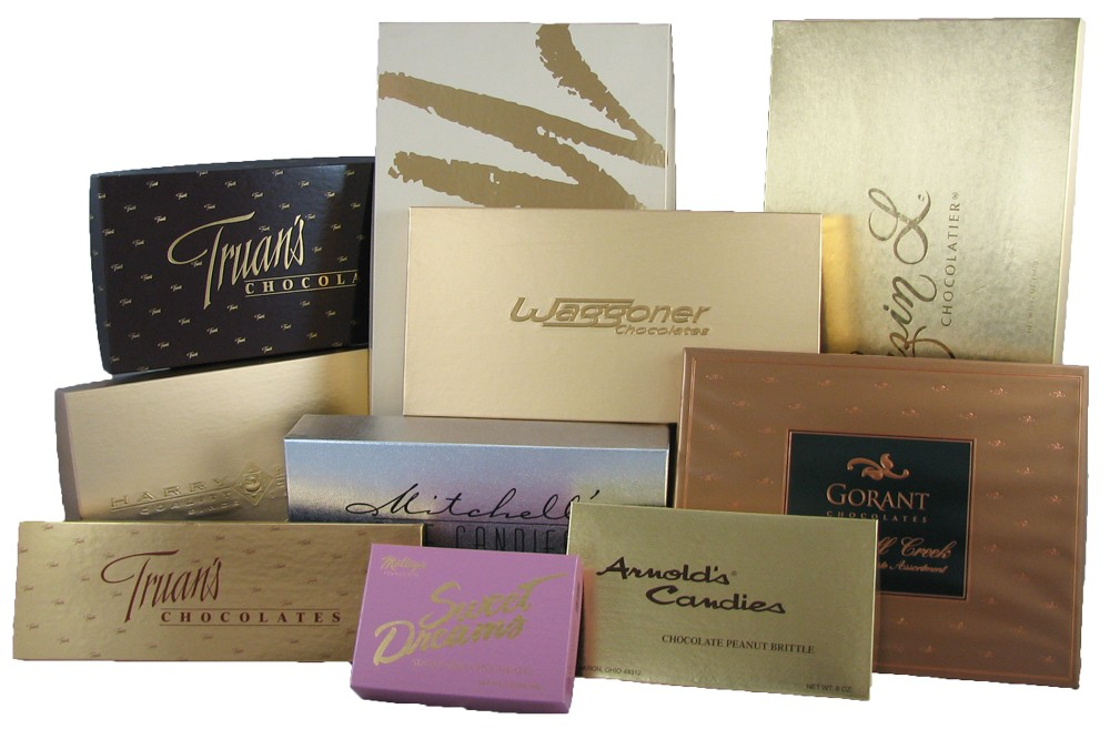 Foil Stamped Candy boxes