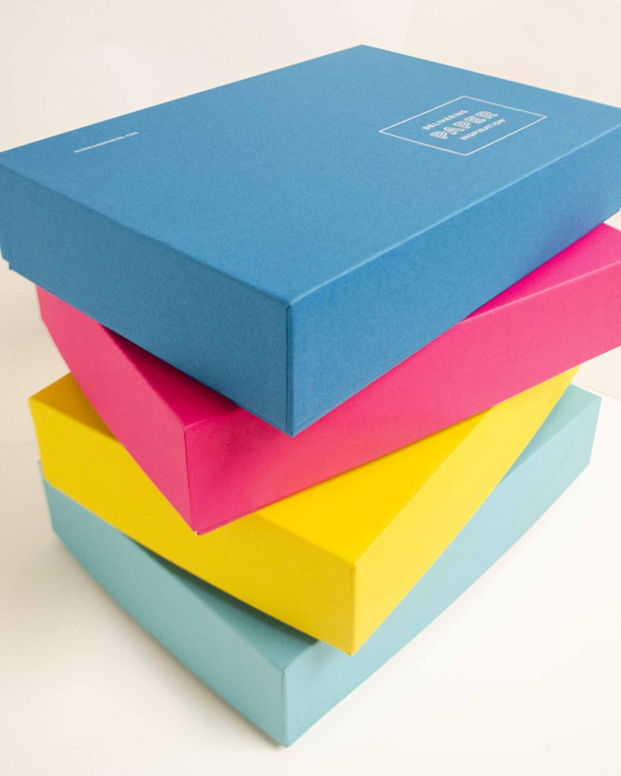 Colored Paper Stationery Boxes